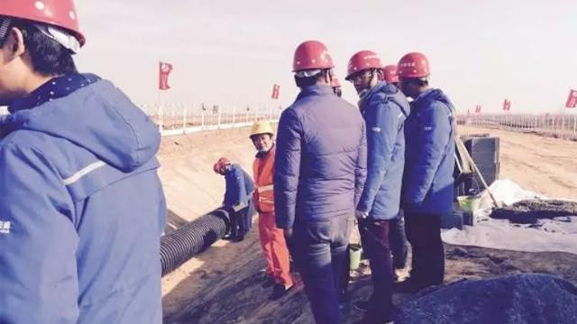 中国电建工程使用中塑HDPE中空壁缠绕管、双壁波纹管